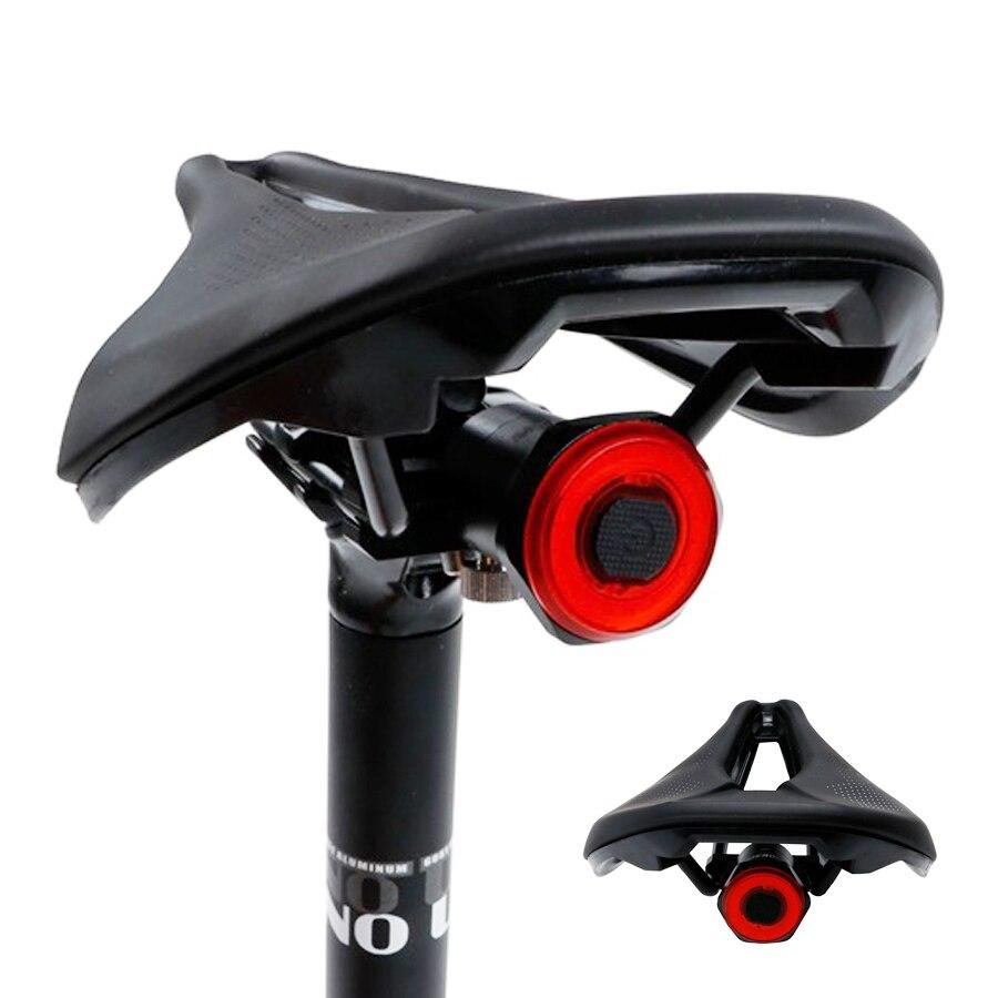 Luz trasera NEWBOLER Bicicleta inteligente, luz trasera de arranque automático/parada, detección de freno IPx6, carga USB impermeable, luz trasera de bicicleta, luz LED para bicicleta