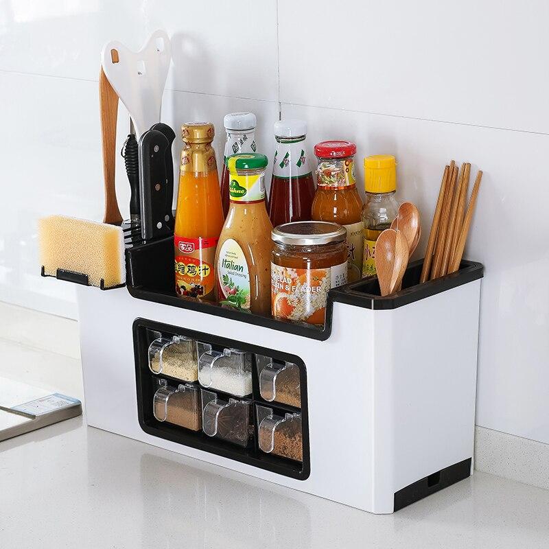 Multi-funktion gewürz box rack mahlzeit messer gabel gewürz küche lagerung rack spice liefert würze lagerung tank set ZP3141446