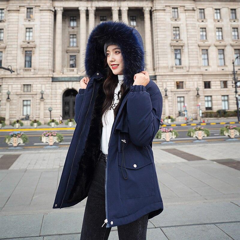 Осенне-зимнее женское пальто с большим пушистым воротником, короткое стильное приталенное пальто с капюшоном, Офисная Женская Повседневна...