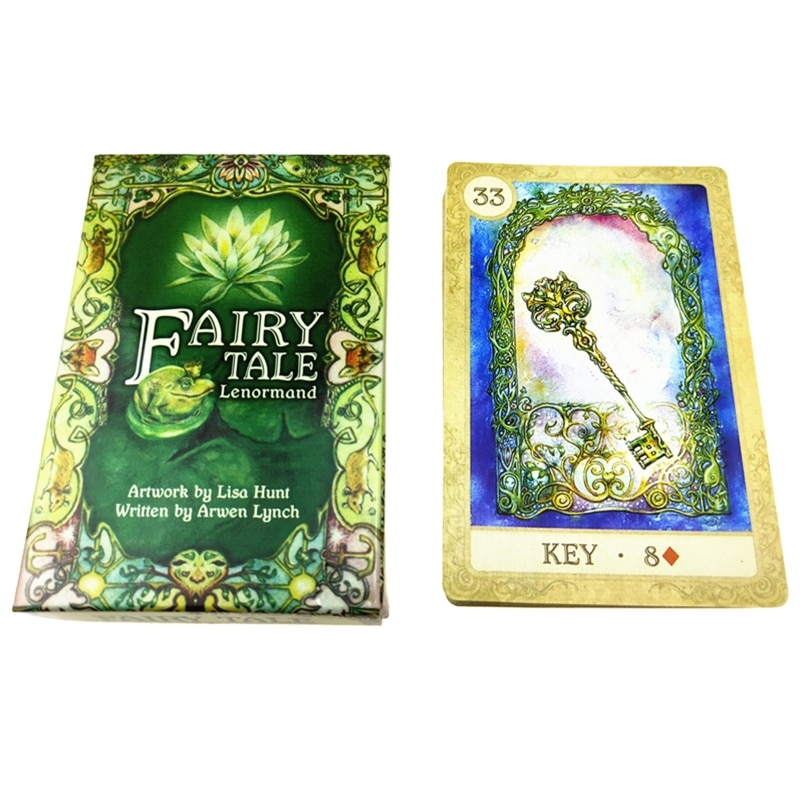 Fairy Tale Lenormand Tarot 38 Cards Deck Full English Mysterious Divination Fate Family Party Board Game  недорого