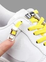 magnetic shoelaces elastic no tie shoe laces sneakers laces for shoes quick rubber shoe lace lock kids adult flat shoestringgs