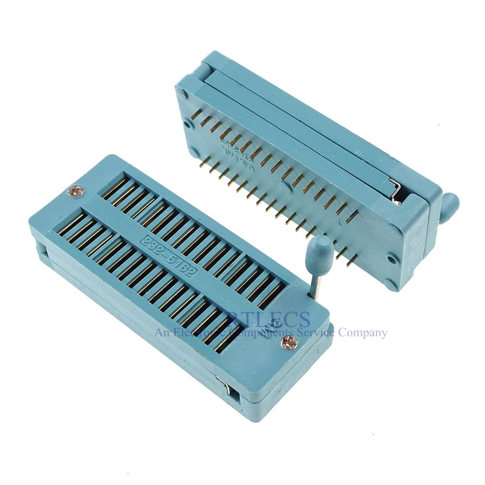 "1 Pcs Test Ic Dip Zif Zip Socket 32 Pin Toonhoogte 2.54 Mm Universele Dual Rijenafstand 15.24 Mm 0.6 ""2X16 32 Positie Grid"
