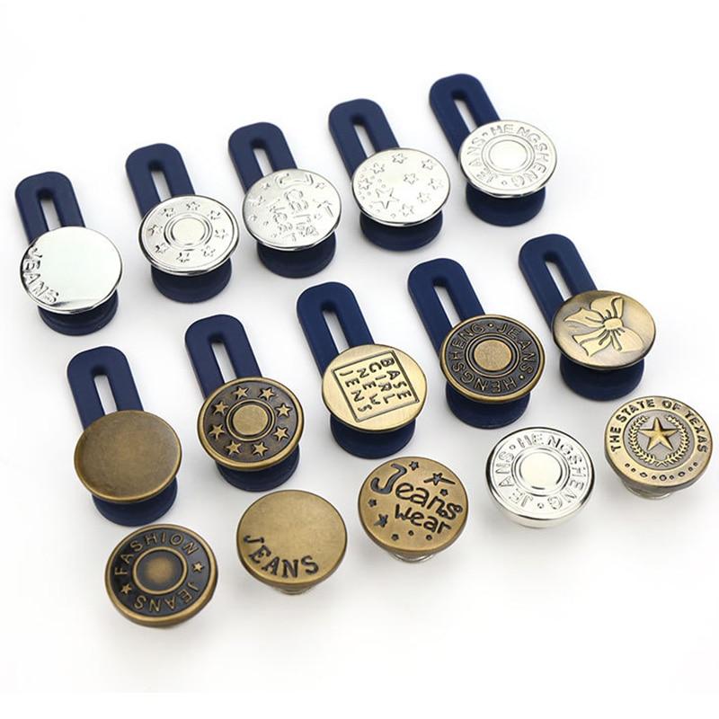 10 Uds Jeans botón retráctil ajustable desmontable botón extendido para ropa Jeans DTT88