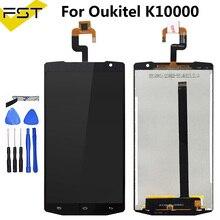 Czarny dla Oukitel K10000 wyświetlacz LCD + ekran dotykowy 100% przetestowany wyświetlacz LCD wymiana szkła Digitizer dla Oukitel K10000