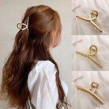 1 pc donne ragazze stile coreano artigli per capelli mentali accessori per capelli moda geometrica clip di capelli Simpe di grandi dimensioni copricapo per le donne