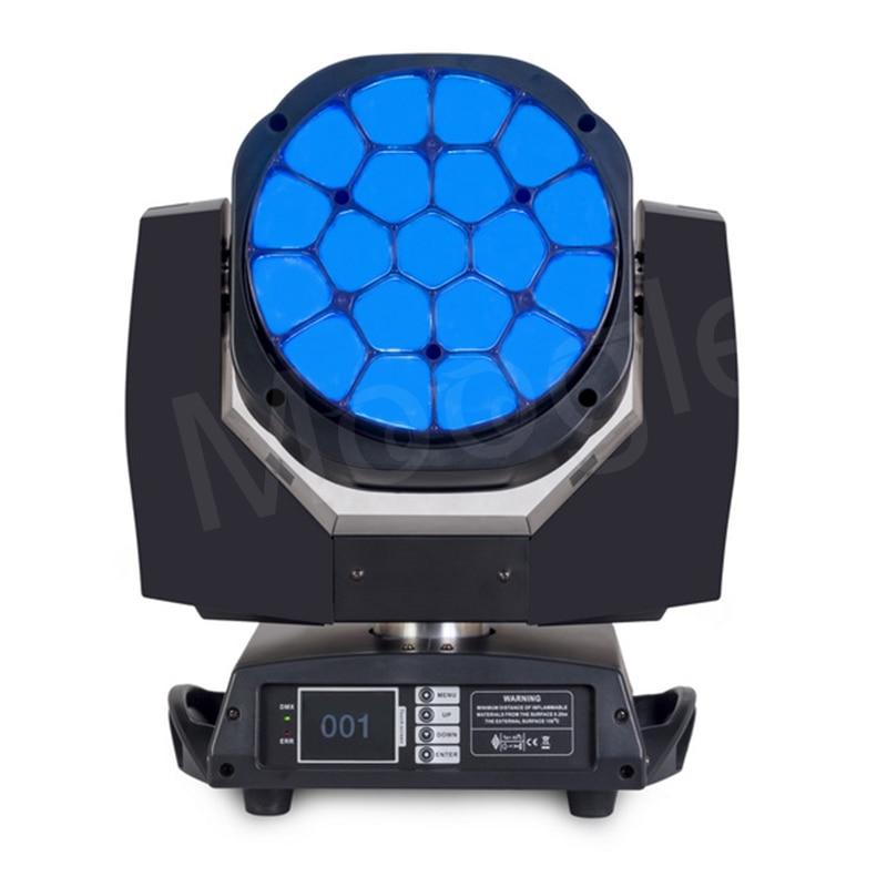 Gran Ojo de abeja 19*15 w arcilla Paky K10 LED cabeza móvil etapa haz lavado Zoom Luz