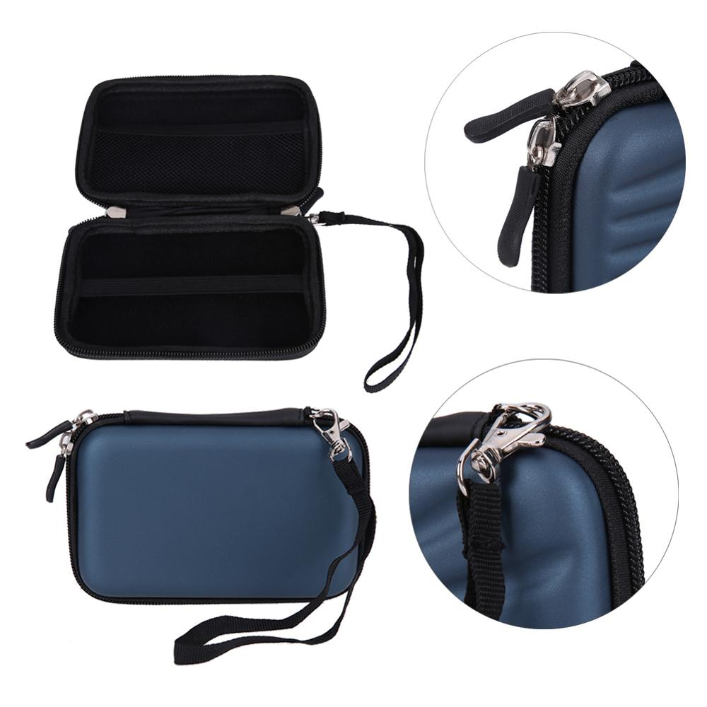 "2,5 ""3,5"" HDD Bag EVA PU USB Hard Shell funda de transporte bolsa de la cubierta del auricular externo bolsa para PC Laptop carcasa de disco duro"