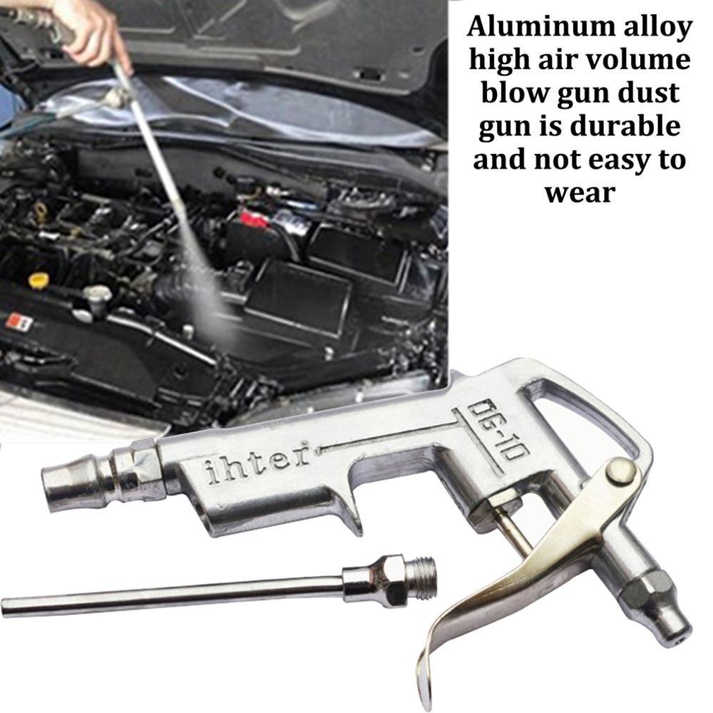 1Pcs Air Compressor Dust Duster Trigger Handle 1/4 Compressed Alloy Nozzle Blow Gun DG-10