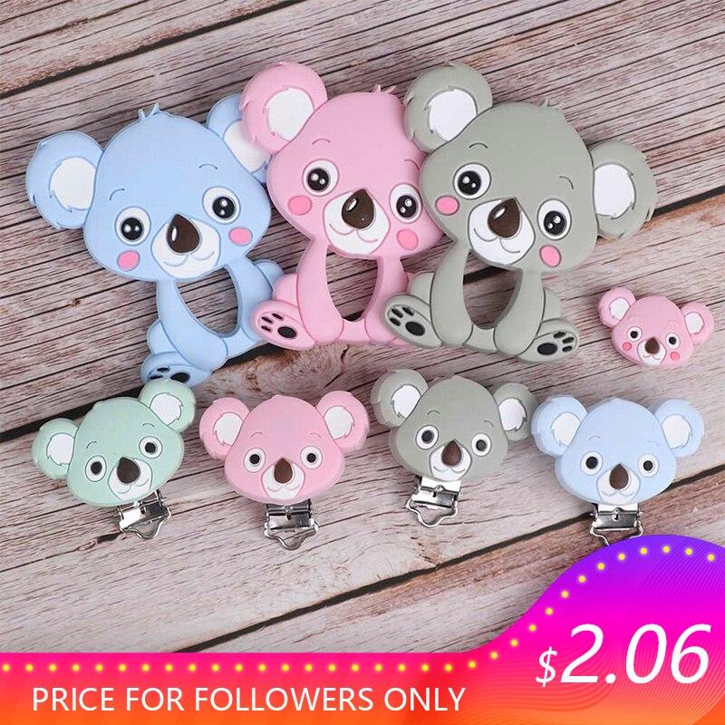 TYRY.HU Koala Baby Teething Silicone Beads Food Grade DIY Accessories Baby Product Teething Necklace