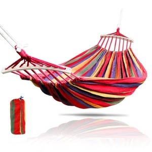 Portable Outdoor Hanging Hammock Indoor Bedroom Hammock Lazy Chair Travel Camping Swing Chair Thick Canvas Bed Hammocks  WF