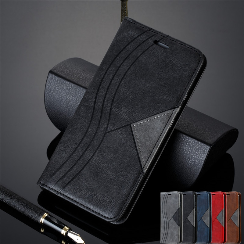 De cuero Retro caso magnético para Huawei P40 Lite Flip cartera cubierta para Huawei P40 P 40 Pro P40Lite E P40Pro P30 P20 teléfono caso