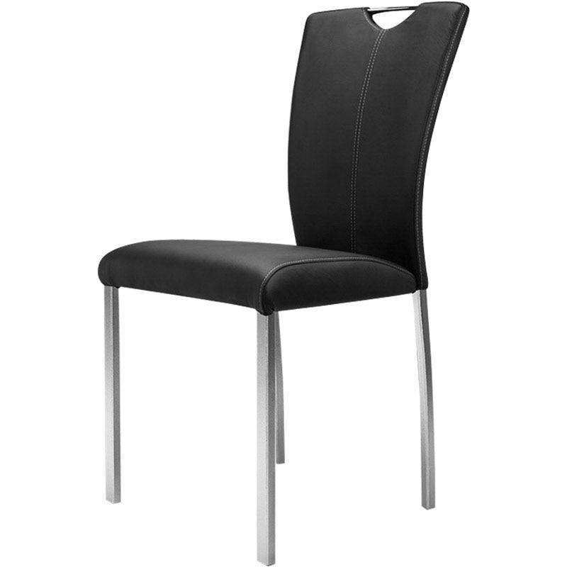 حديث بسيط الأسرة الطعام كرسي ، لينة حقيبة كرسي من فندق مقهى مصمم ، مع الفولاذ المقاوم للصدأ الساقين ومقعد خشب متين
