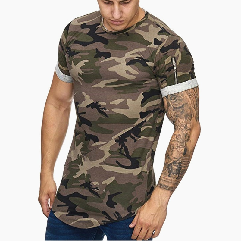 2019 New Men t-shirt Bodybuilding Slim O-Neck Short Sleeve tShirts Men Casual Joggers Fitness Camouflage Tees Tops Gyms Clothing covrlge 2019 t shirt men short sleeve solid tshirt mens fashion slim fit t shirts casual o neck tshirts fitness clothing mts2911