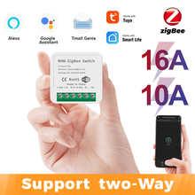 Tuya Zigbee мини умные «сделай сам»: 16/10A поддерживает связь с 2-мя способ Управление, система автоматического управления