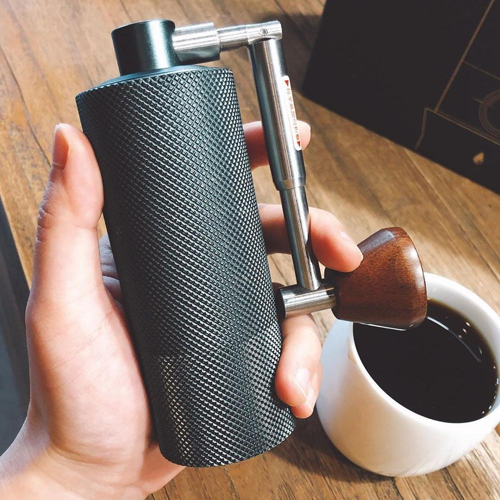 TIMEMORE NANO-مطحنة قهوة يدوية صغيرة ، 2020 ، محمولة ، إعداد قابل للتعديل ، مطحنة لدغ مخروطي لتسخين الإسبريسو