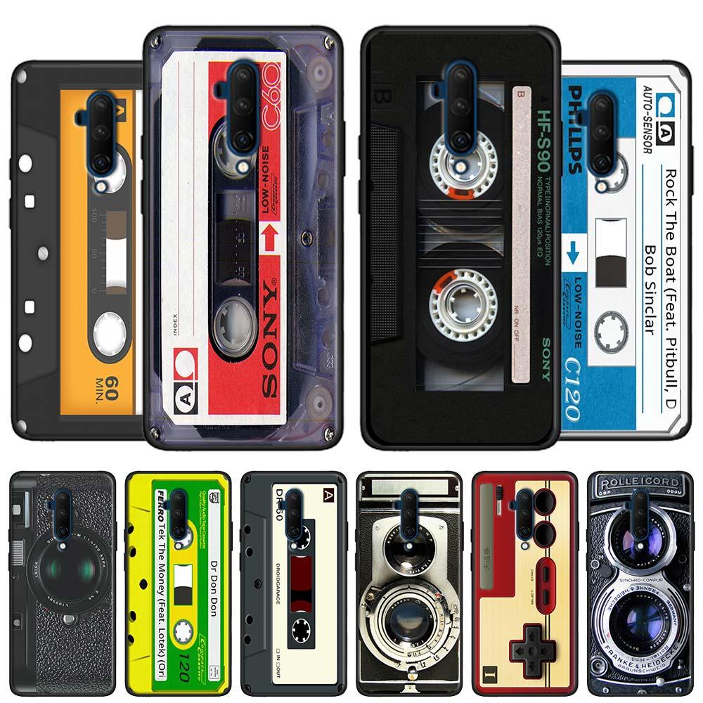 Caso macio coque para oneplus nord 8 pro 7 pro 7t pro 5g 6 6t 7t capa de silicone escudo do vintage câmera rádio fita magnética telefone ca