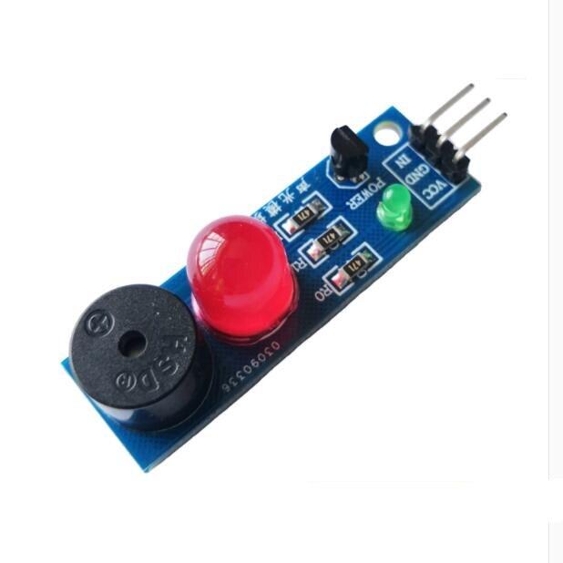 4 pces st011 módulo de alarme audível e visual/dispositivo de sinalização de som e luz/único computador chip/módulo eletrônico/led