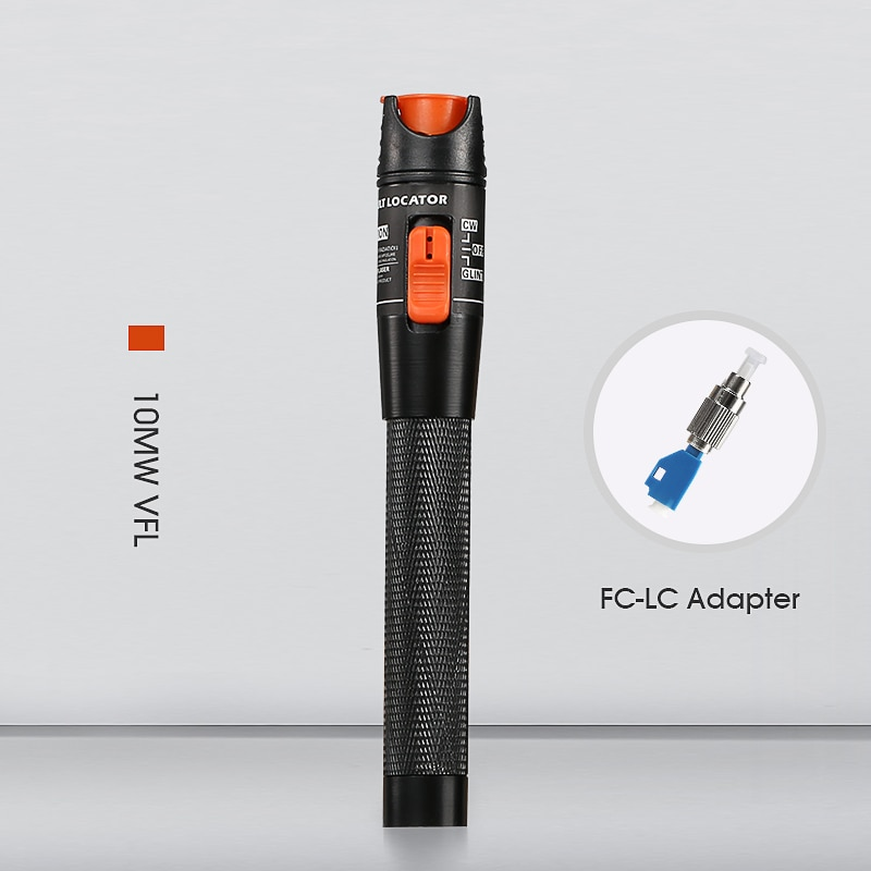 10mW Localizador Visual de fallos luz roja probador de Cable de fibra...