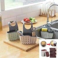 Etagere devier de cuisine  egouttoir pour eponge  chiffon de nettoyage  support de rangement pour savon  accessoires de salle de bains
