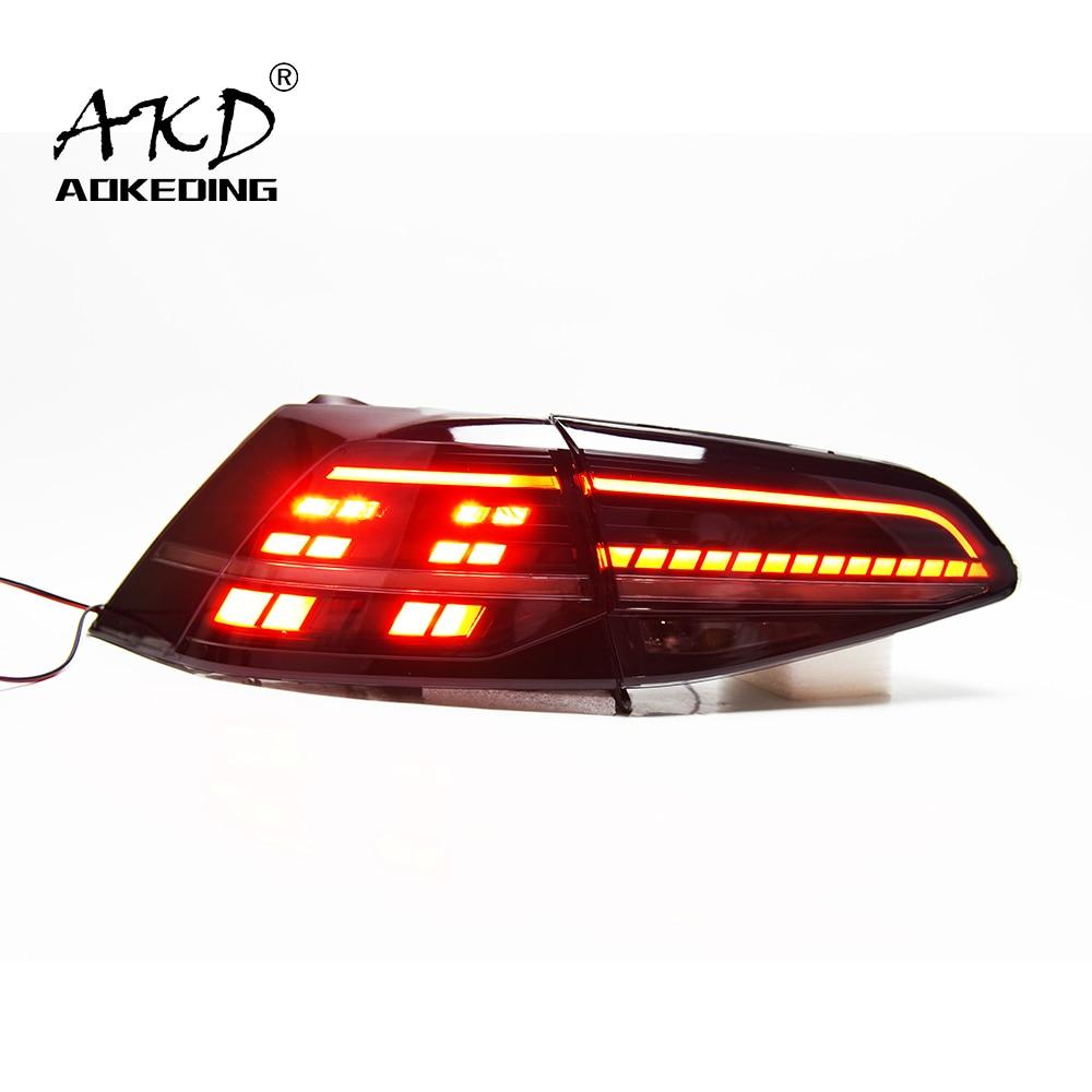 AKD الذيل مصباح للجولف 7 مصباح ليد خلفي 2013-2020 جولف 7 الخلفية الضباب الفرامل بدوره إشارة اكسسوارات السيارات