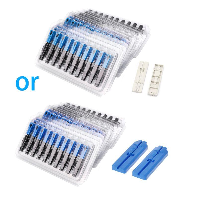 100PCS SC Optic Fiber Quick Cold FTTH SC Single Mode UPC Fast Connector