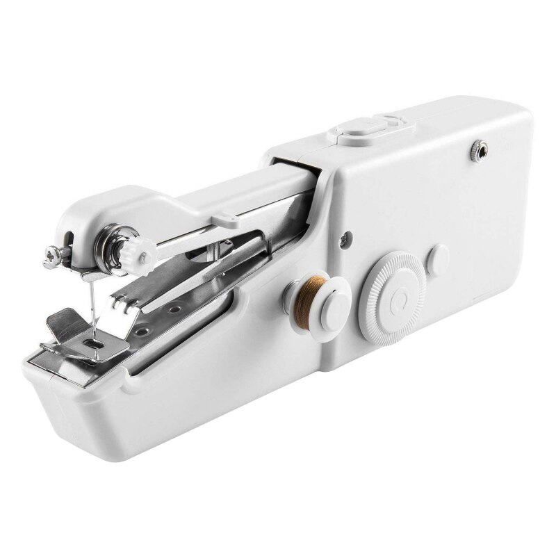 Mini máquina De coser portátil De 21x6,5x3,5 cm, cosido a mano rápido para ropa De tela, ropa De niños, máquina De Costura