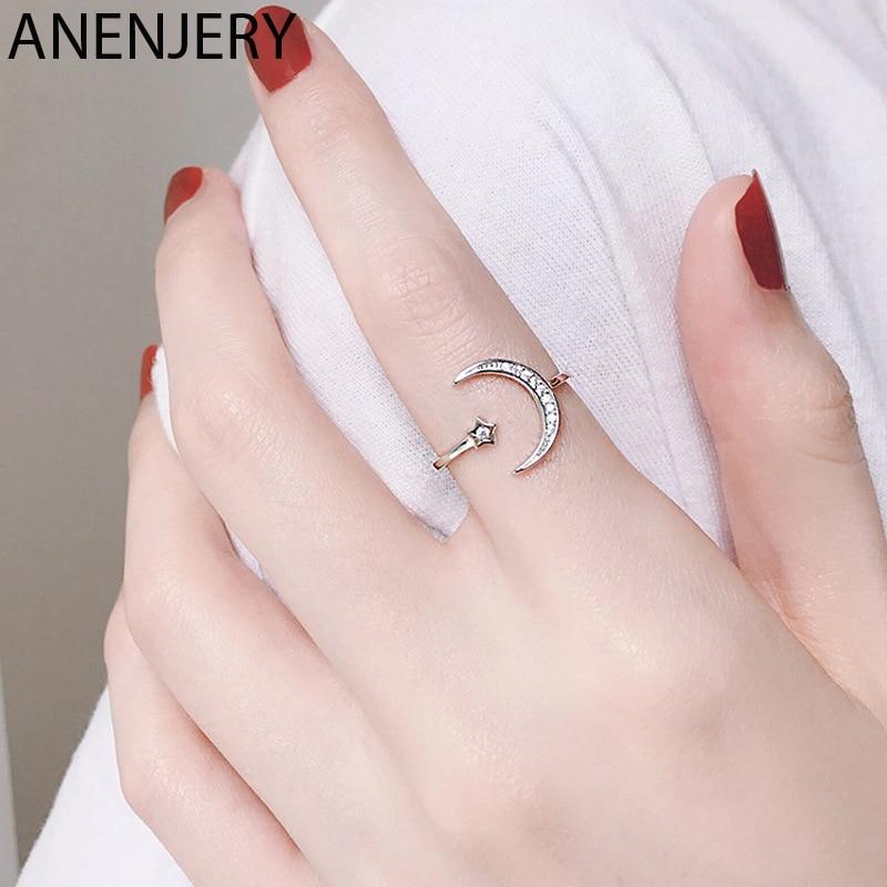 goldria-925-пробы-серебряные-Простые-циркониевые-кольца-в-виде-Луны-и-звезды-для-женщин-и-девушек-регулируемый-размер-s-r467