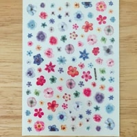 3d nail sticker colorful flower design diy tips nail art decoration packaging self transfer decal slider