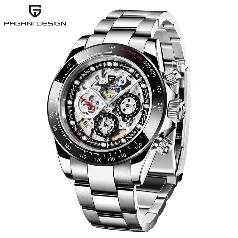2021 PAGANI تصميم ساعات رجالي العلامة التجارية الفاخرة التلقائي ساعة ميكانيكية الرجال الفولاذ المقاوم للصدأ موضة مقاوم للماء ساعات رياضية
