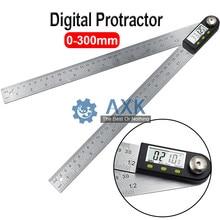 "300mm 12 ""Digital Angle rule Finder Meter Protractor inclinómetro goniómetro electrónico Angle Gauge Acero inoxidable LT508"