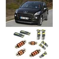 car accessories car led interior light kit for peugeot 3008 2009 2016 error free white 6000k super bright