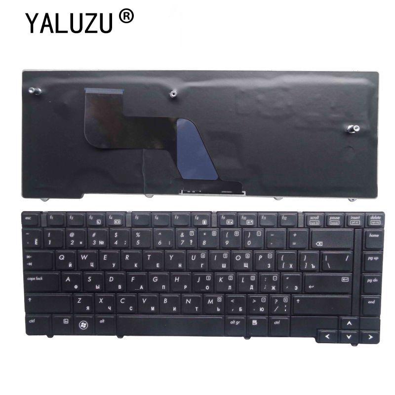 YALUZU-لوحة مفاتيح روسية جديدة للكمبيوتر المحمول ، لجهاز HP Elitebook 8440P 8440W 8440 ، أسود