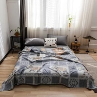 tongdi cool soft throw striped down cotton quilt blanket luxury for cooling summer couch cover bed machine wash bedspread