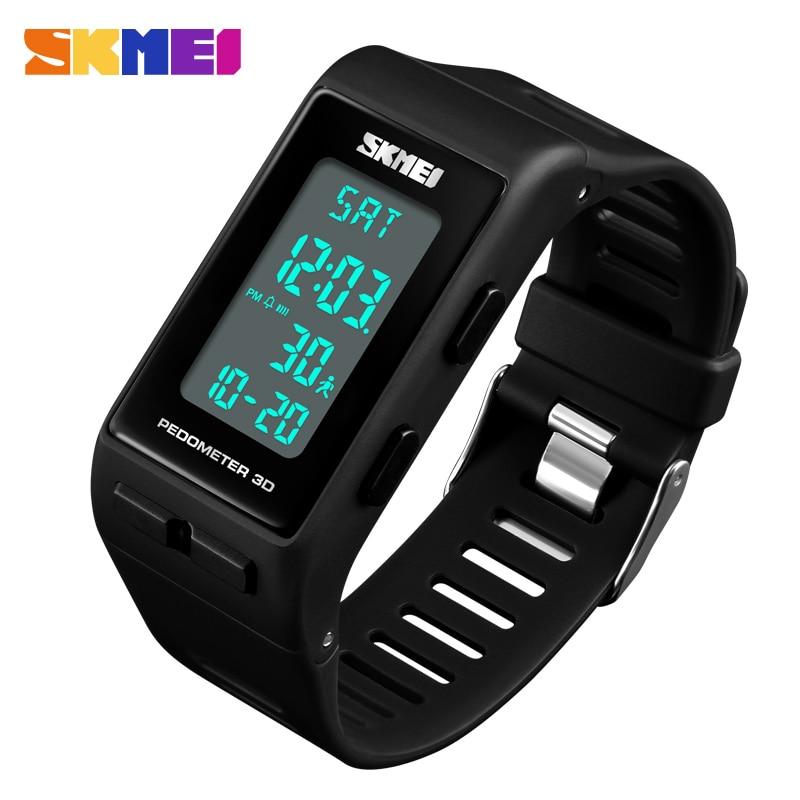 SKMEI Brand Sports Watch MenTop Brand Luxury Pedometer Calorie Digital Watch Waterproof LED Electronic Wrist Watches Clock Mens
