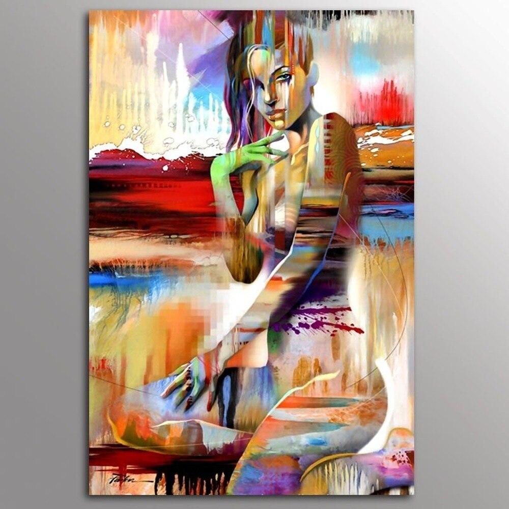 Pósteres abstractos de belleza Sexy chica desnuda cuadro sobre lienzo para pared nórdico Simple sin marco Cuadros decorativos