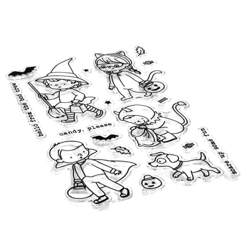 2021 New Halloween Boy Girl Clear Stamps and Metal Cutting Dies Sets For DIY Making Festival Greeting Card Scrapbooking Ornament