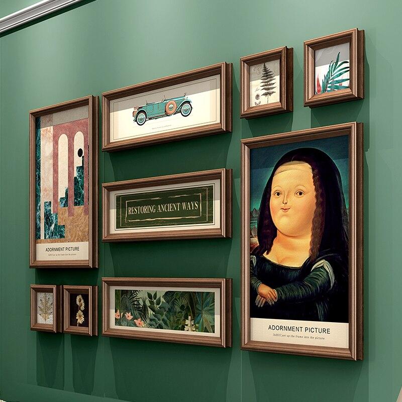 ضوء إطار صور فاخرة مجموعة معلقة جدارية Vintage خلفية غرفة المعيشة صورة جدار غرفة fotomole الأمريكية الديكور EF50ZP