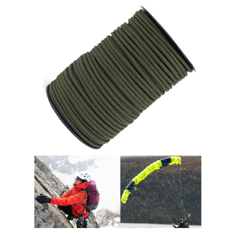 Cuerda de paracaídas 100M 550 Paracord cordón 9 hebra Core carpa cuerda de escalada