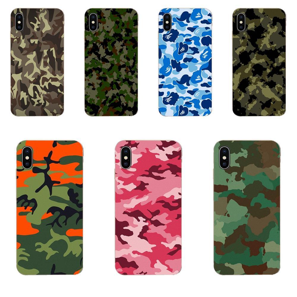 Patrón de camuflaje, camuflaje, ejército militar para Galaxy J1, J2, J3, J330, J4, J5, J6, J7, J730, J8 2015, 2016, 2017, 2018, mini Pro Soft Mobile