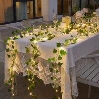 lamp string light led solar light outdoor leaf fairy garland wedding party waterproof sola light christmas decoration for garden