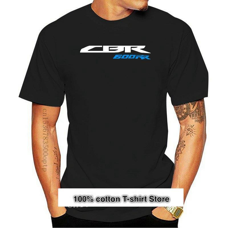 Camisetas de moda para hombre de camisa negra con Logo CBR600RR... CBR...