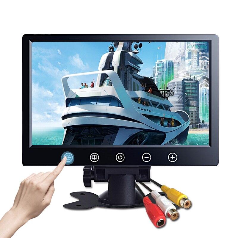 "10.1 inch AV TFT LCD Car Monitor portable Rearview Backup Camera Screen 1024*600 CCTV display 7"" mini pc monitor"