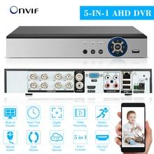AHD NVR CVI TVI HVR 5-in-1 DVR 8CH 1080P ONVIF Video Recorder P2P Remote Telefon überwachung für Sicherheit Surveillance System kit