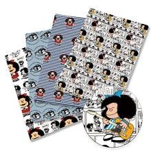 mafalda Fabric Cartoon140*50cm Handmade Sewing Patchwork Quilting Baby Dress Home Sheet Printed Fabr