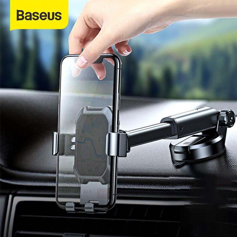 Baseus حامل هاتف السيارة قوي شفط كأس حامل الهاتف المحمول على السيارة 360 درجة الجاذبية سيارة حامل حامل للهاتف المحمول
