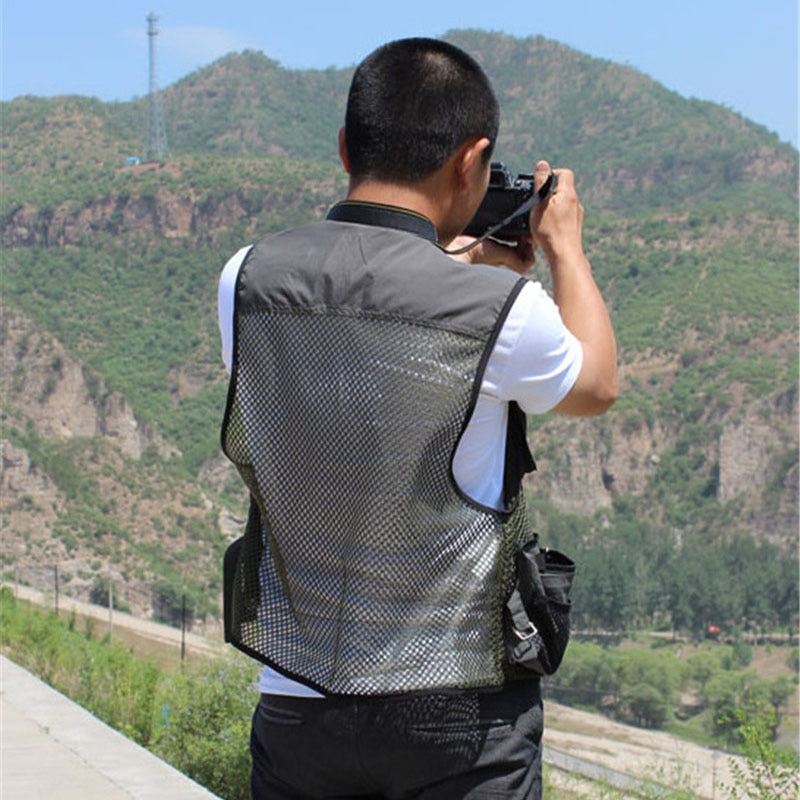 High Quality Fishing Vest Men Mesh Multi-pocket Zip Waistcoat Male Men's Photography Hunting Travel Outdoor Sport Vests Clothes