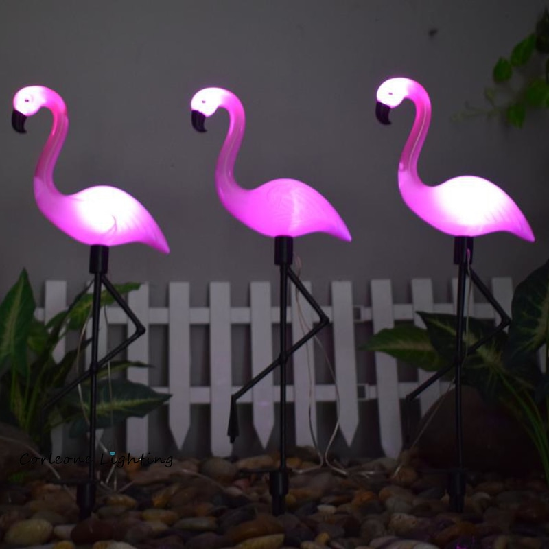LED Bird Lamp Flamingo Solar Power Light Outdoor Fence Light Courtyard Garden Solar Led Lamp Waterproof Outside Deco Solar Light enlarge