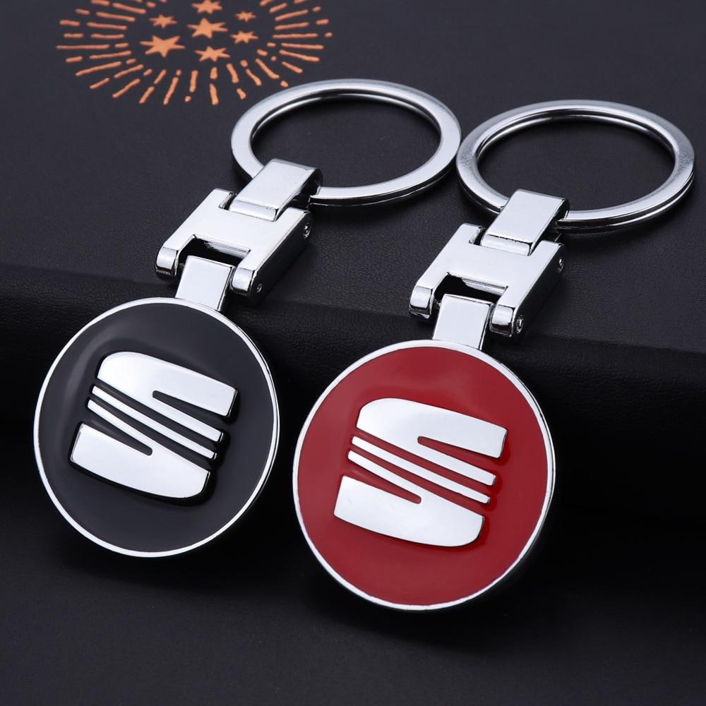 AliExpress - Key Ring Key Chain High Grade Metal For Seat Leon Ibiza 6j Ateca Arona Altea Alhambra Logo Emblem Keychain Fashion Accessories