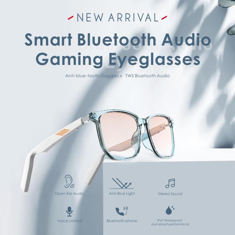 نظارات بلوتوث ذكية ، سماعة رأس ، توصيل عظمي ، نظارات شمسية مستقطبة مع ميكروفون