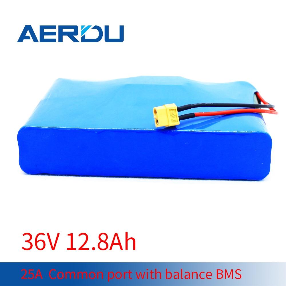 AERDU 36 فولت 10S4P 12.8Ah 25A المنفذ المشترك مع التوازن BMS 18650 بطارية ليثيوم حزمة دعم 600 واط سكوتر عربة جولف الكهربائية الخ